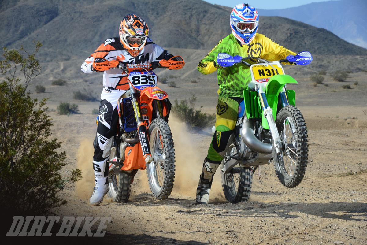 Desert Showdown Kx500 Vs Ktm 450 Dirt Bike Magazine