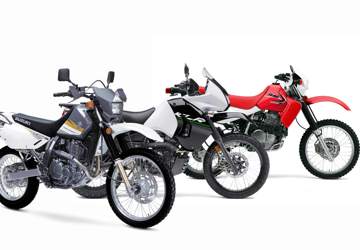 three650s 650 dual sport adventure comparison dirt bike magazine