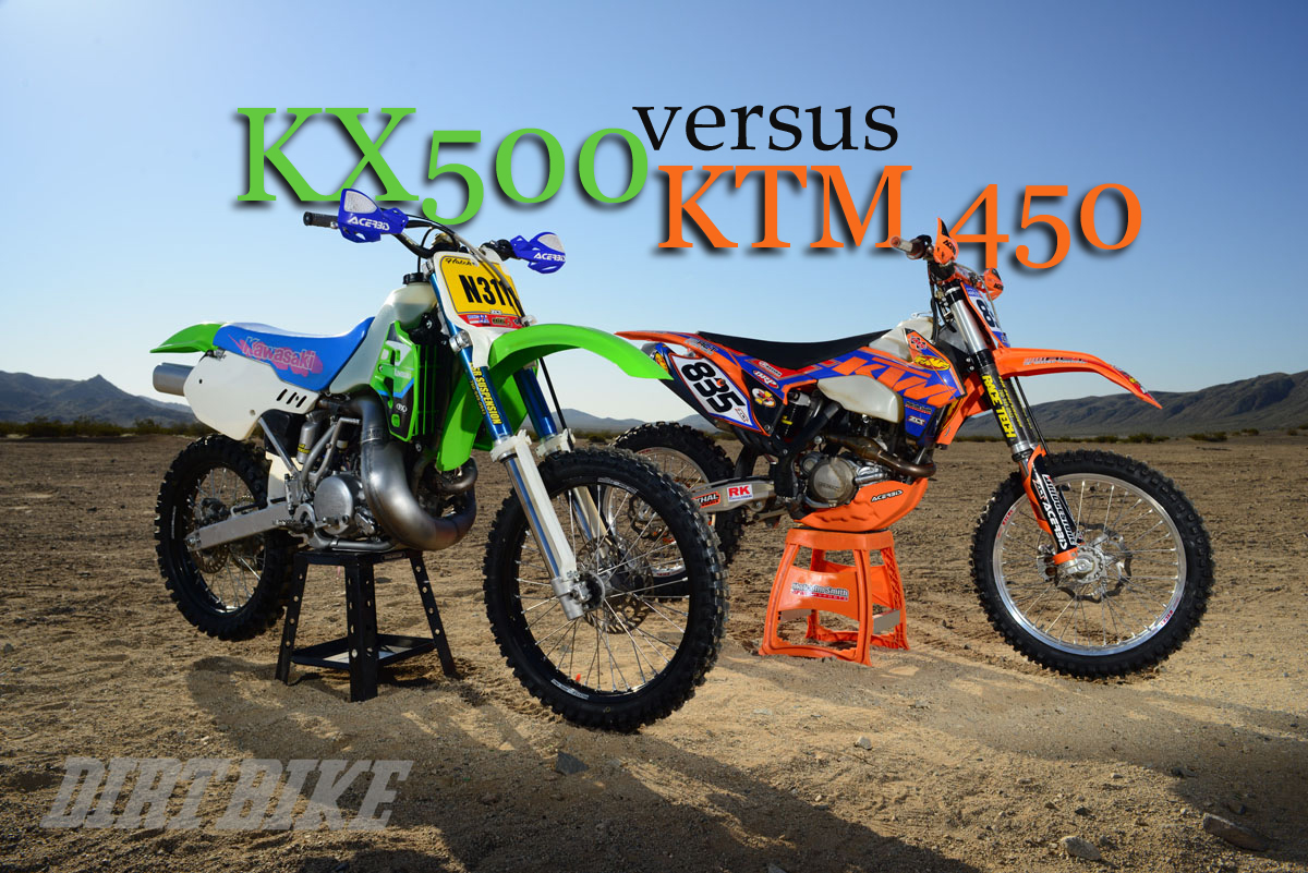 DESERT SHOWDOWN: KX500 VS. KTM 450 | Dirt Bike Magazine