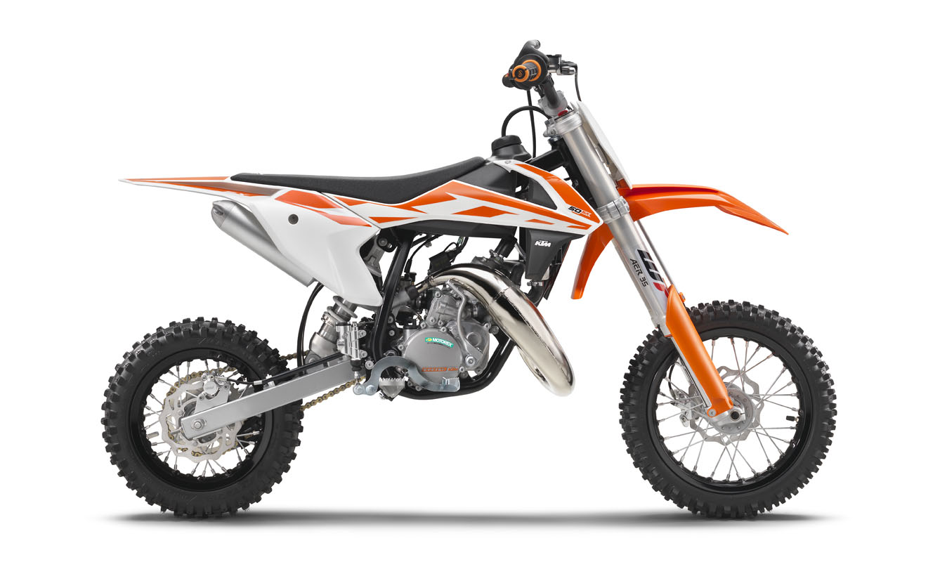 first 2017 models ktm 50sx 65sx 85sx dirt bike magazine. Black Bedroom Furniture Sets. Home Design Ideas
