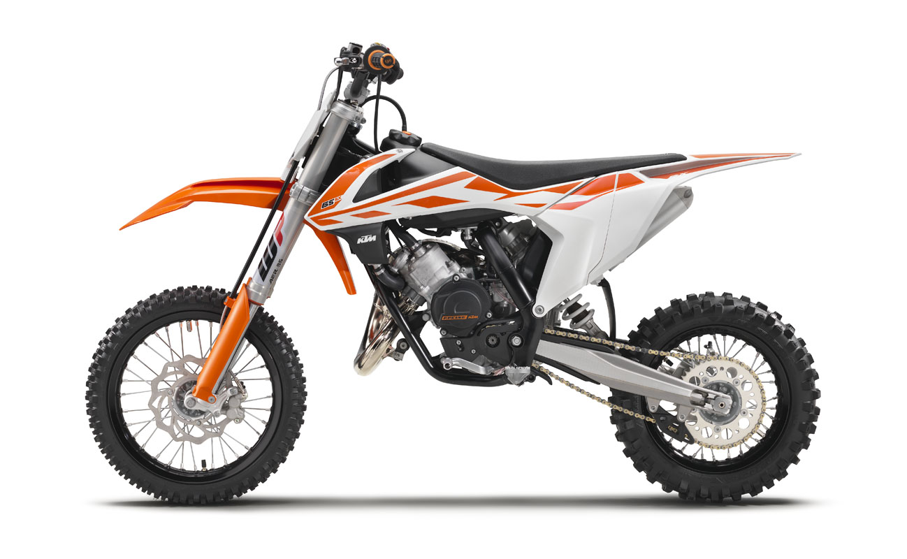 dirt bike magazine | first 2017 models: ktm 50sx, 65sx, 85sx