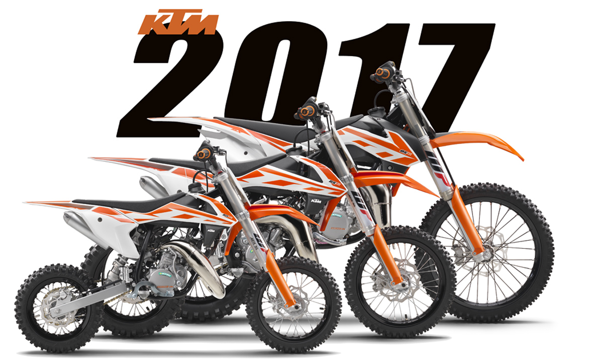 FIRST 2017 MODELS: KTM 50SX, 65SX, 85SX