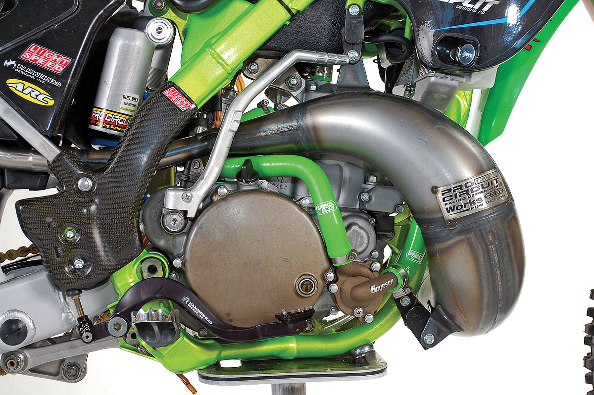 Kawasaki Kx250 Two Stroke Rebuild Dirt Bike Magazine Wiring Harness La Sleeve Did Most Of The Motor Work