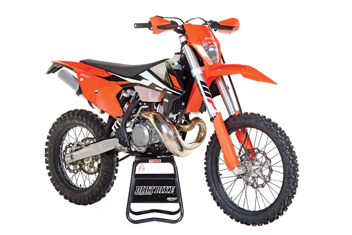Ktm 250xc W 2 Stroke Full Test Dirt Bike Magazine 300 Starter Wiring Diagram With The Xplor Pds Shock And 48 Fork Gave Its Off Road Bikes A Suspension Remake For 2017