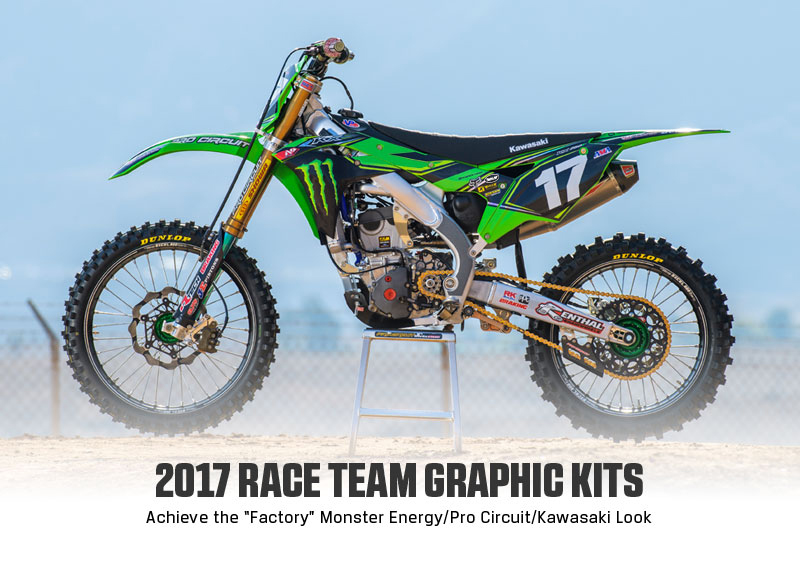 Racing A Monster Energy Pro Circuit Kawasaki Isnt Something Everyone Can Do But You Make Your KX85 KX250F Or KX450F Look Just Like Our Team Bikes
