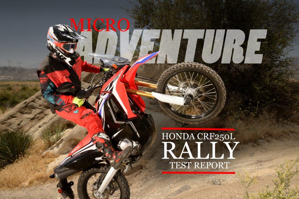 test honda crfl rally dirt bike magazine