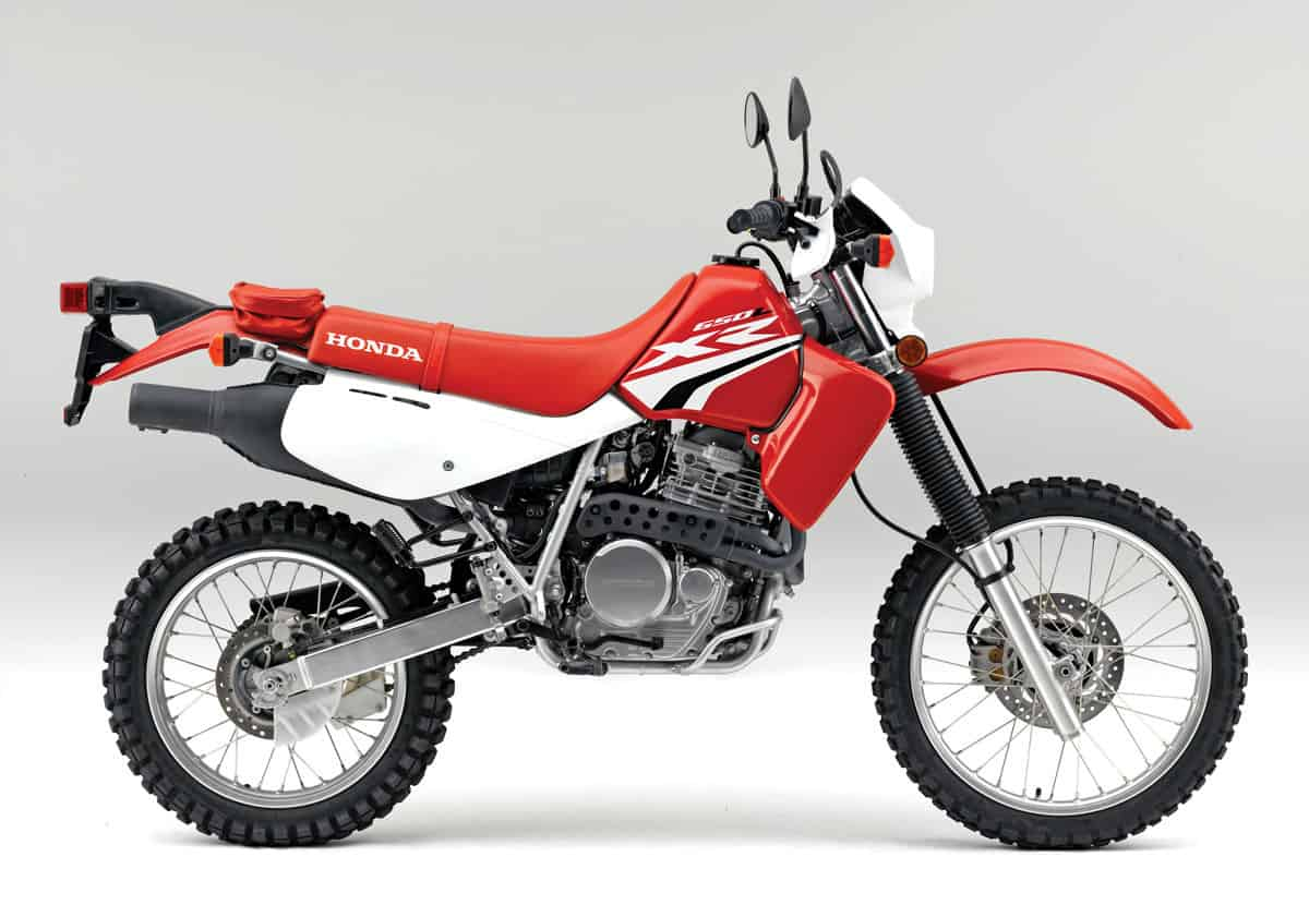 2018 Dual Sport Buyers Guide Dirt Bike Magazine Cool Stroke Wiring Diagram Of The Three Japanese 650cc Bikes Honda Is By Far Most Worthy Air Cooled Electric Start Five Speed Has Gone Almost Unchanged