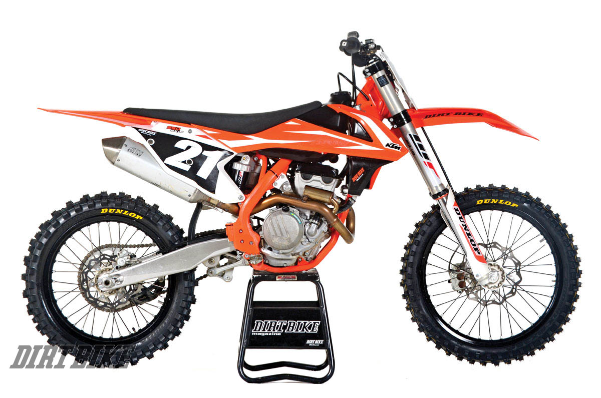 KTM 250SX-F. Weight without fuel: 219 pounds. MSRP: $8699.