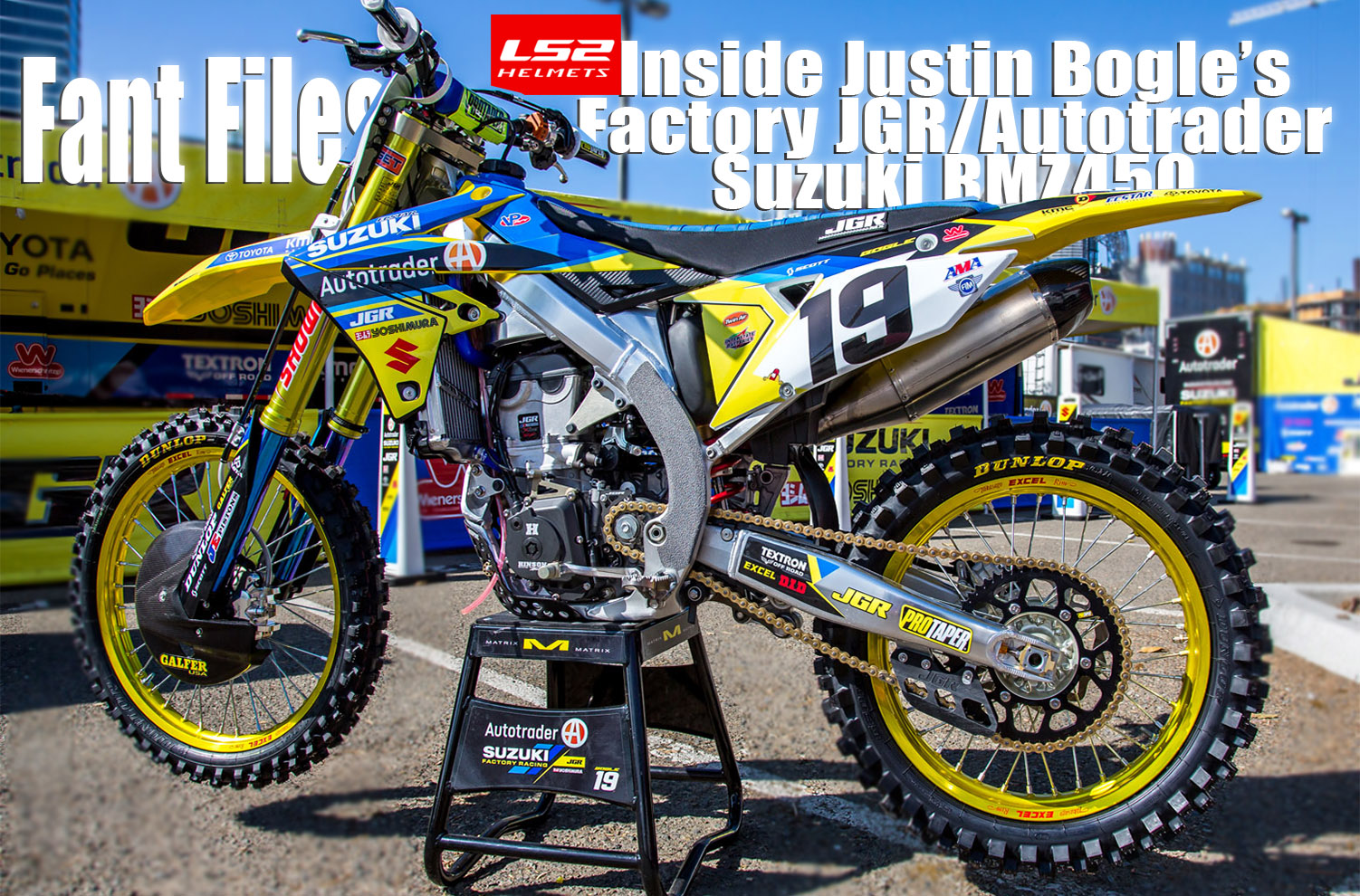 INSIDE JUSTIN BOGLE\'S FACTORY JGR/AUTOTRADER SUZUKI RMZ450 | Dirt ...
