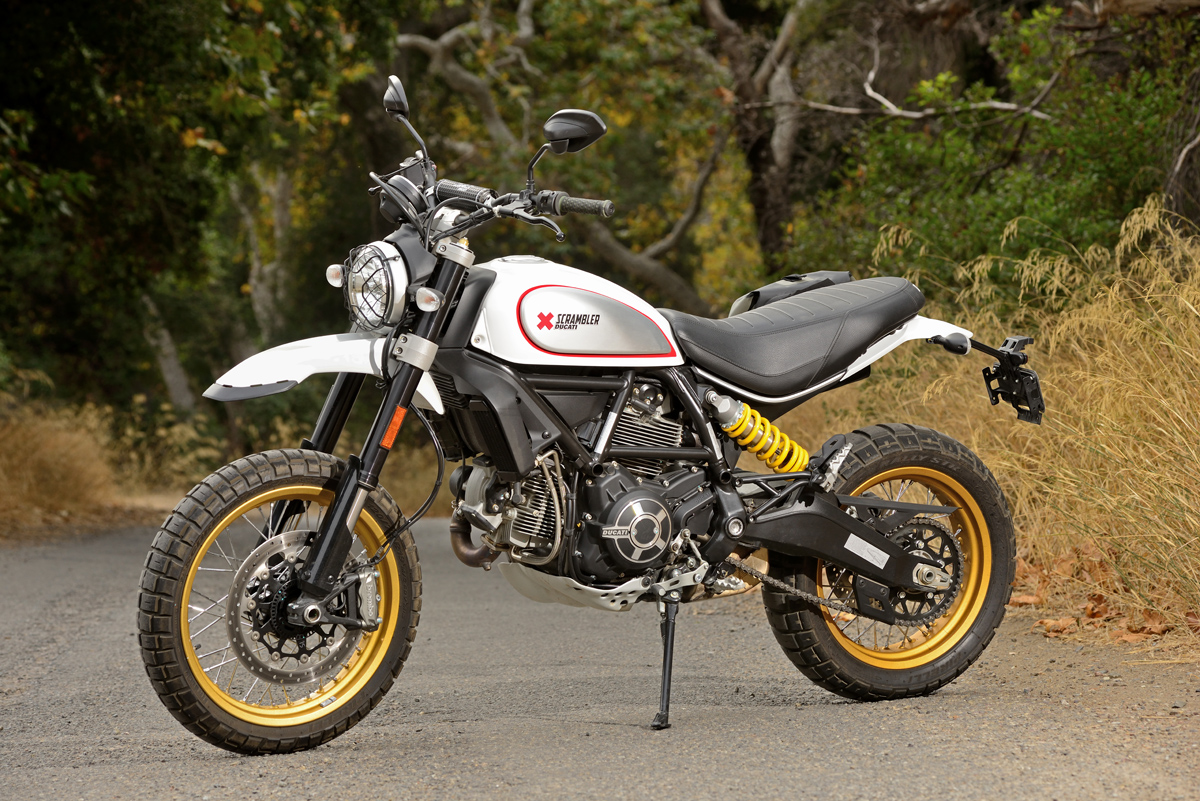 The Scrambler Ducati Desert Sled pays respect to the Bud Ekins/Steve McQueen era of motorcycling. The price in this trim is $11,895.
