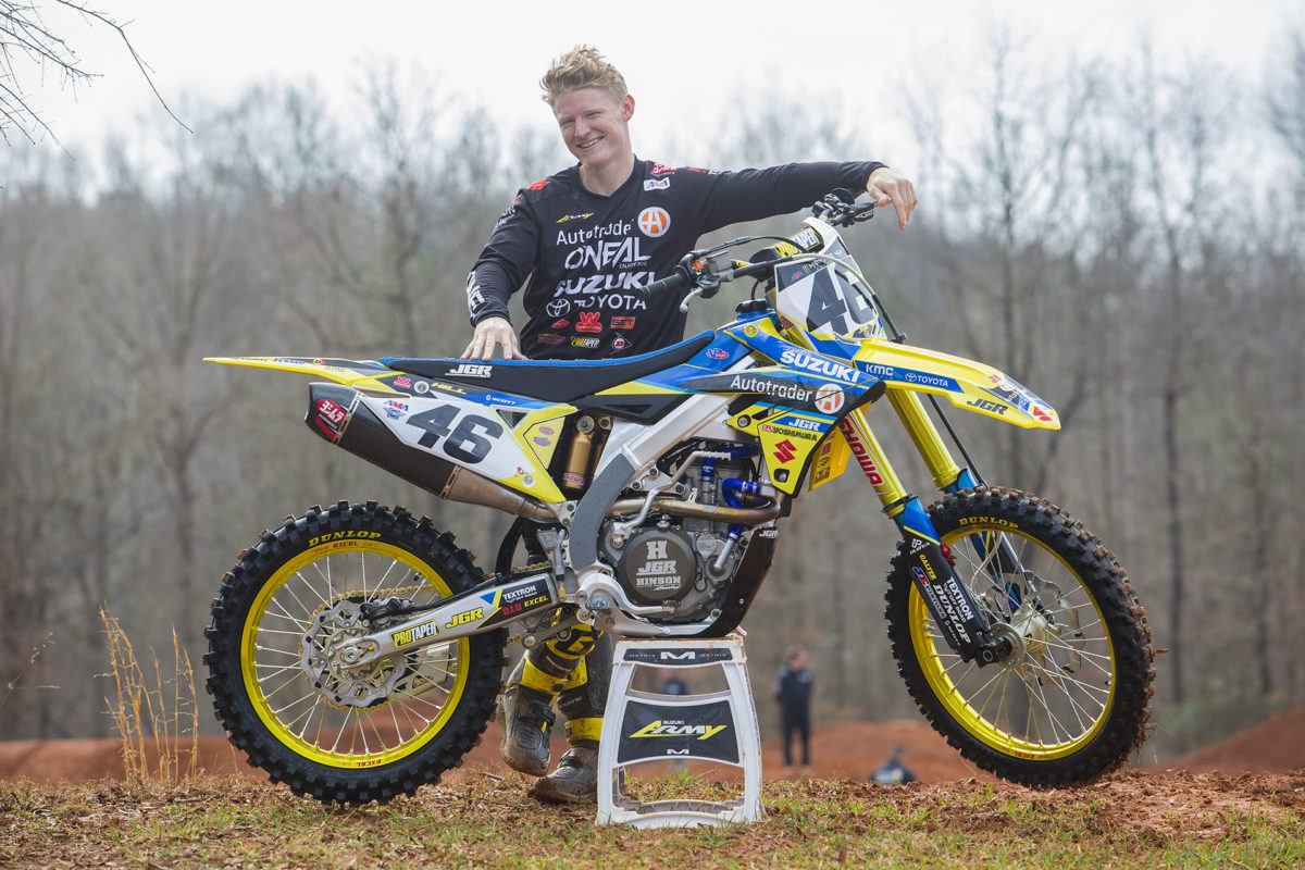 JUSTIN HILL CONFIRMED ON A JGR SUZUKI 450 THIS WEEKEND