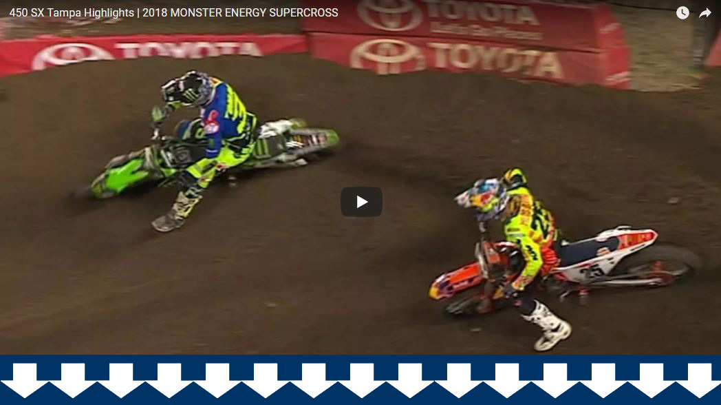 TAMPA SUPERCROSS: KAWASAKI SWEEP!