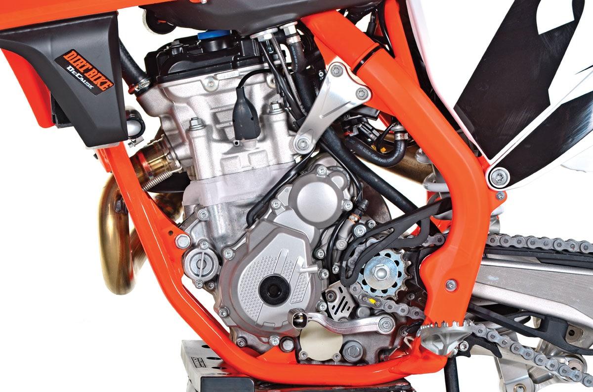Ktm 250sx f full test dirt bike magazine 2018 ktm 250sxf left engine ccuart Image collections