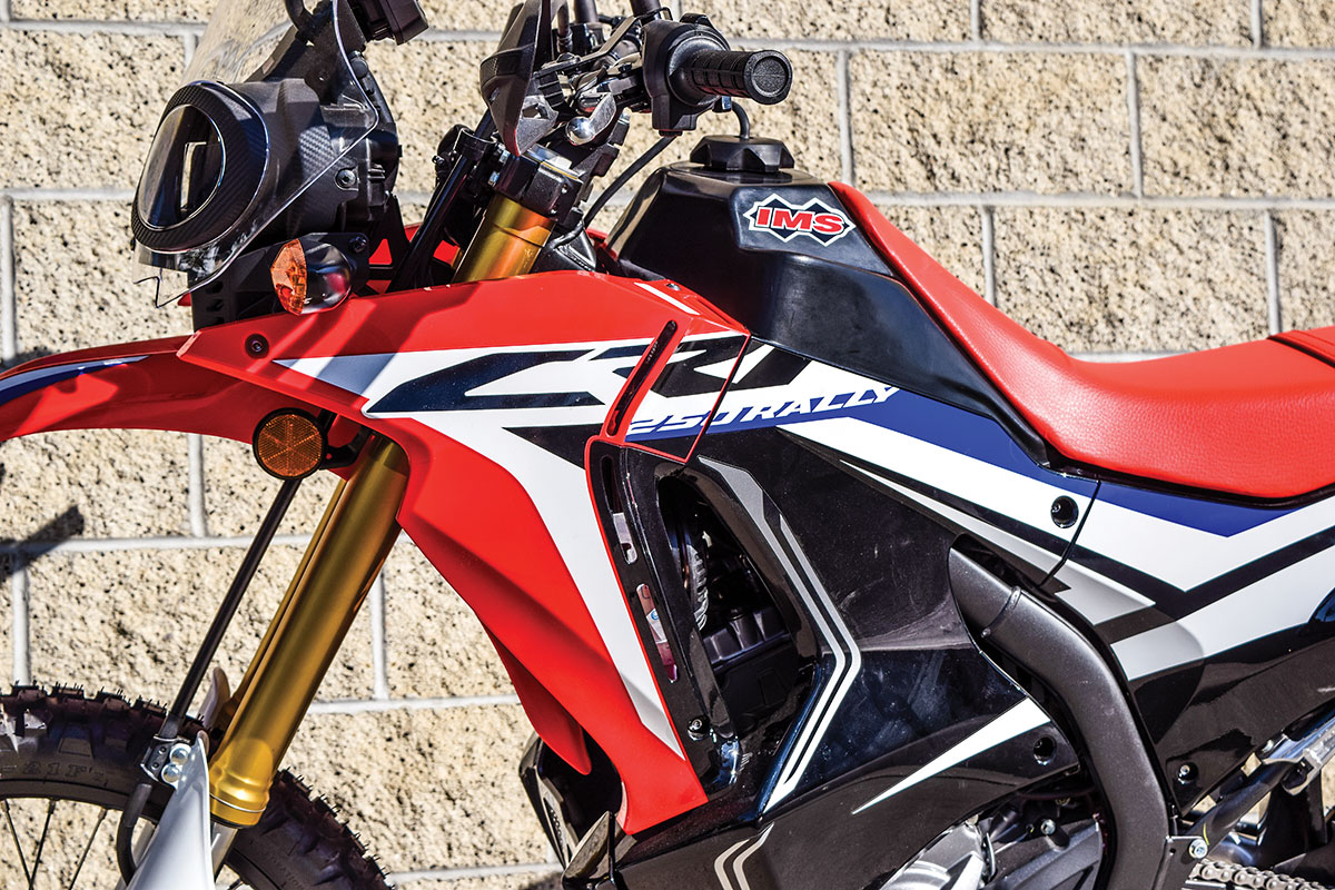 Adventure Bike Products Ims Crf250 Rally Tank Dirt Magazine Camel Honda Pit Is Now Offering A Larger Capacity Fuel For The Crf250l Model Racing Inspired Features Polyethylene Cross Link