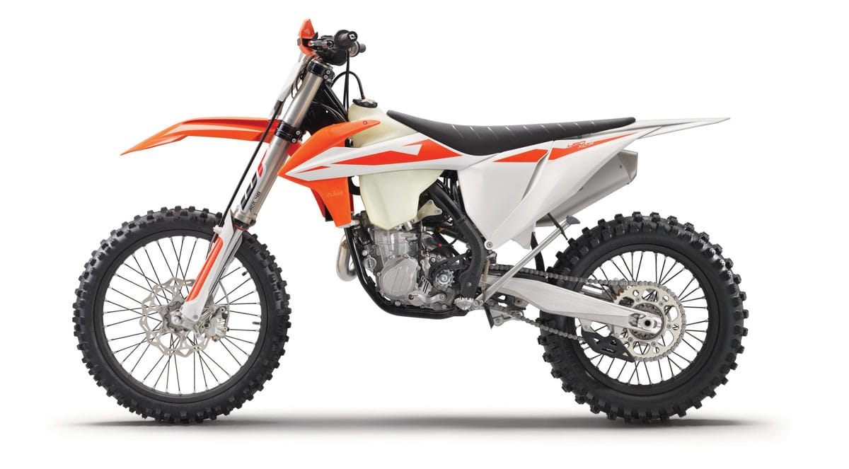 the 2019 ktm 450xc-f will get the smae motor and chassis updates that we