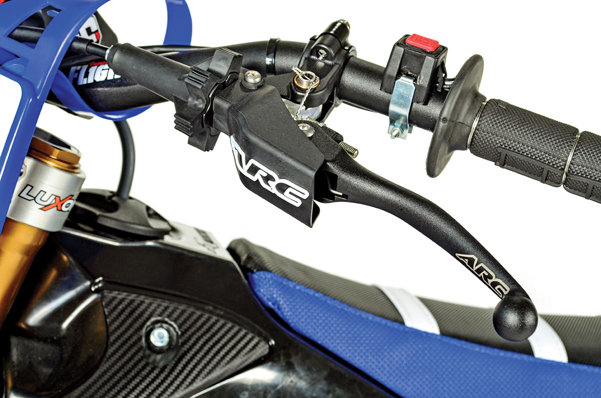 ARC's RC8 perch assembly features an on-the-fly adjustment, an aluminum folding lever and rotating bar clamp.