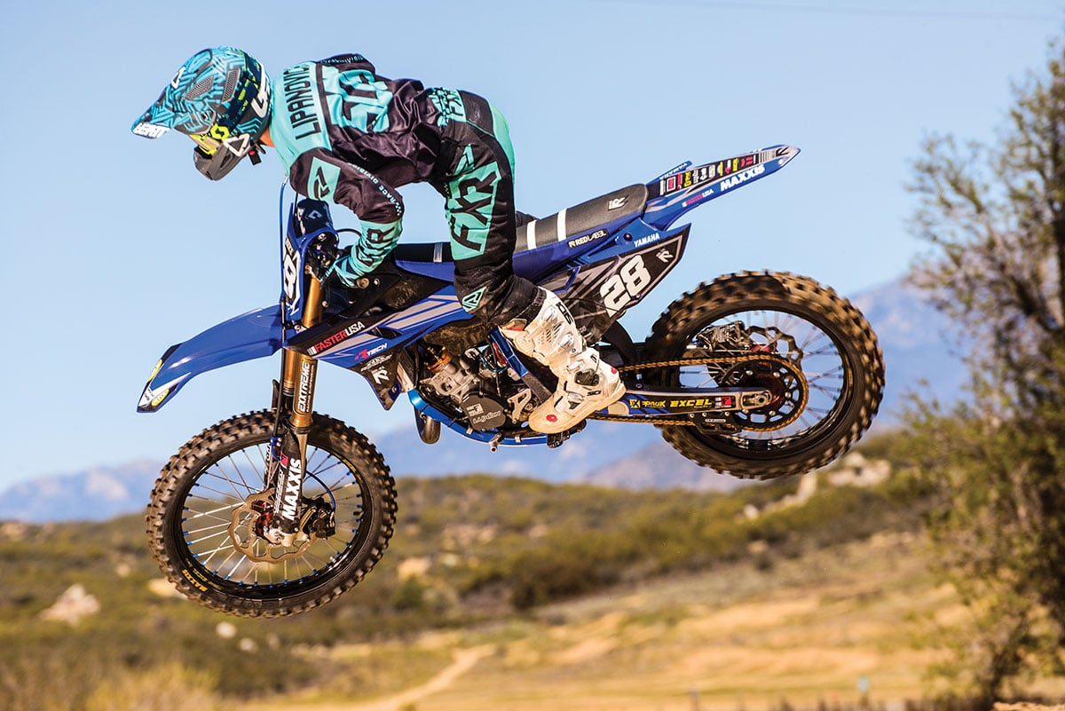 Test rider Sean Lipanovich enjoyed his time aboard the Faster USA YZ125.