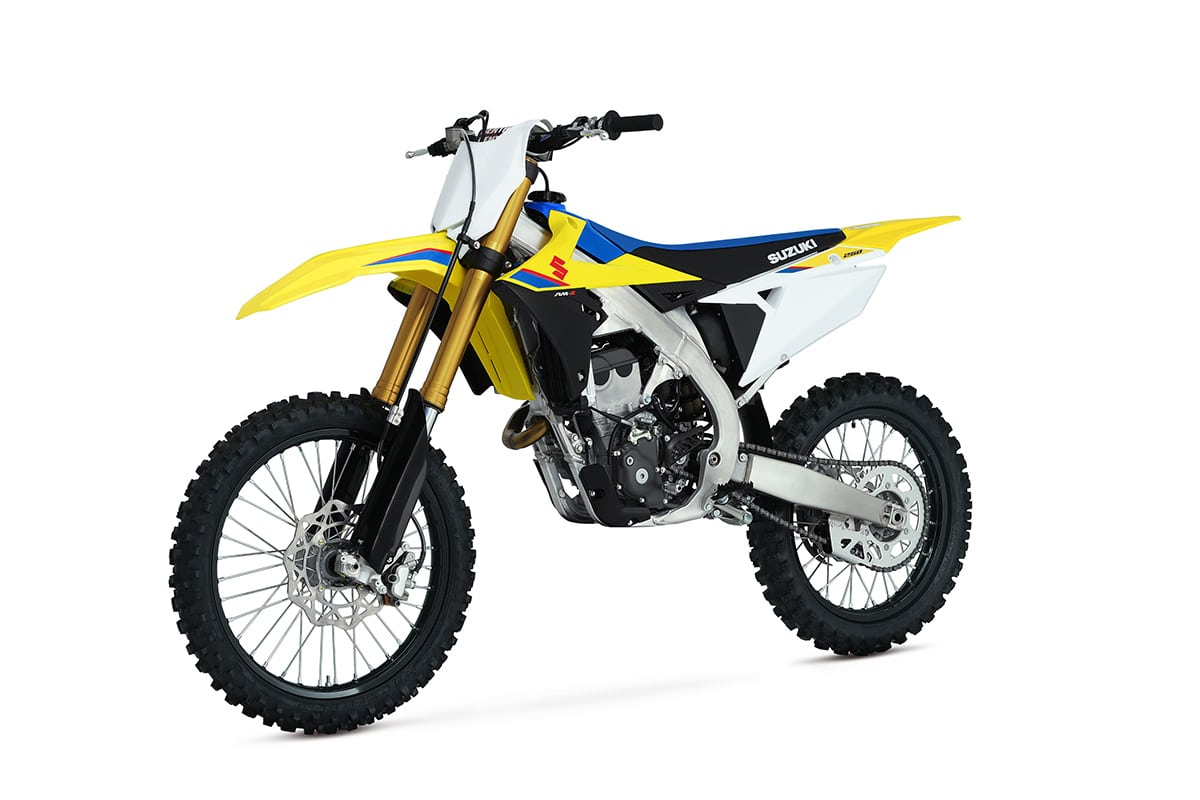 For those ready to take Suzuki's renowned motocross bike handling to the  trails, the RMX450Z returns for serious desert and woods riders.