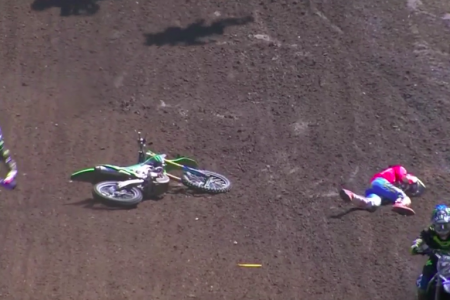 Austin Forkner Crash Washougal National 2018 Dirt Bike
