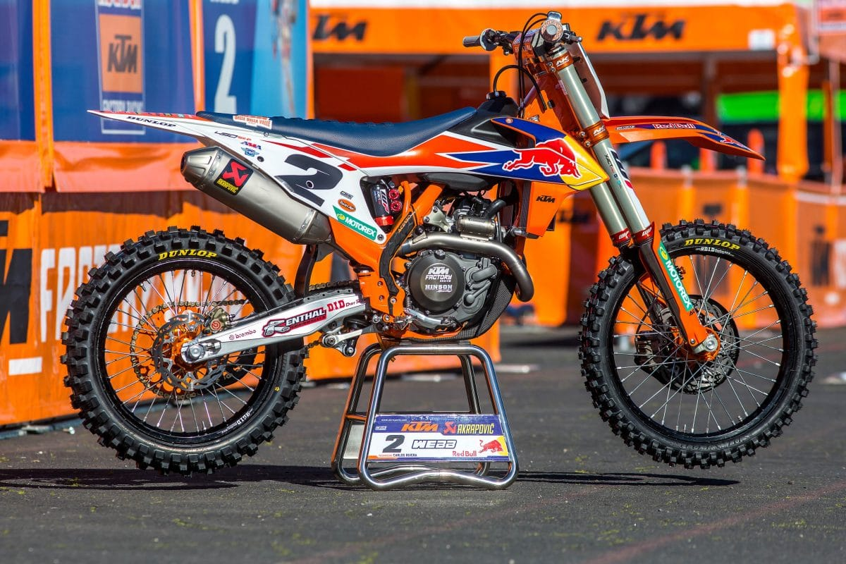 INSIDE COOPER WEBB'S FACTORY RED BULL KTM 450SXF | Dirt Bike