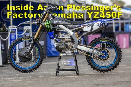 INSIDE AARON PLESSINGER'S FACTORY YAMAHA YZ450F | Dirt Bike
