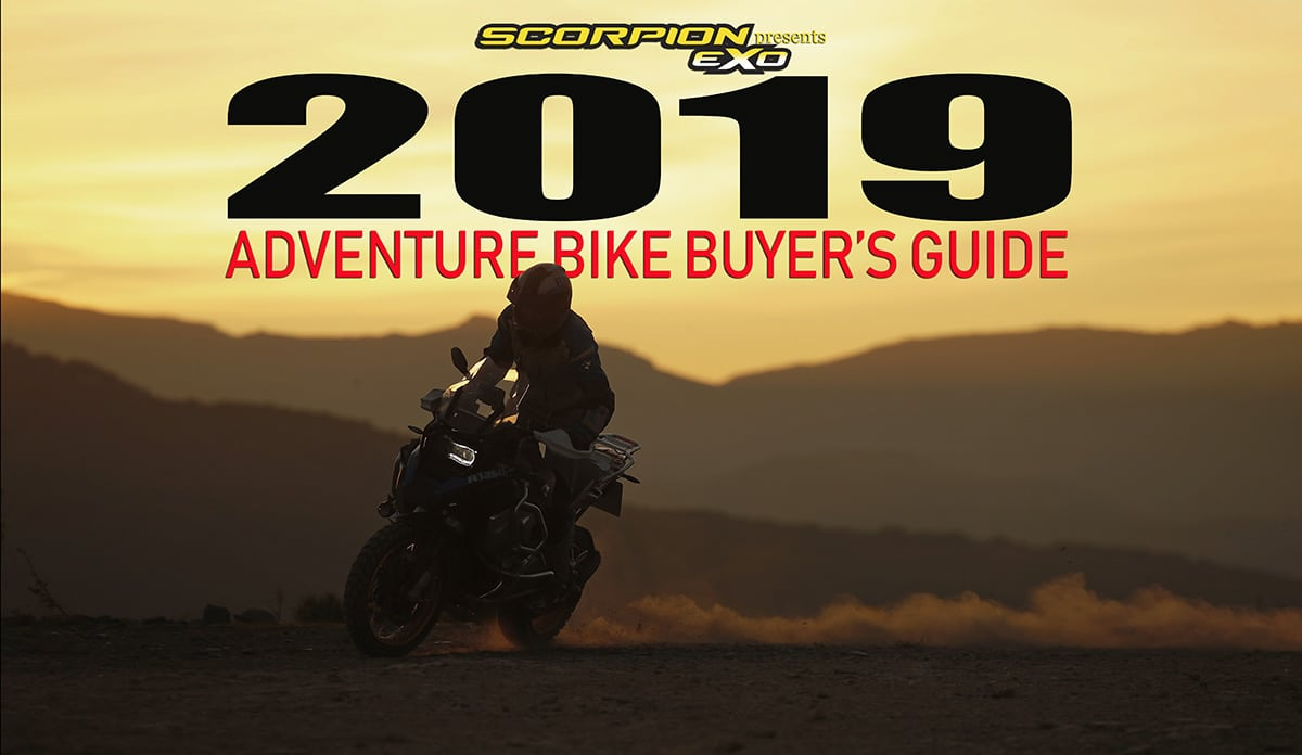 2019 ADVENTURE BIKE BUYER'S GUIDE