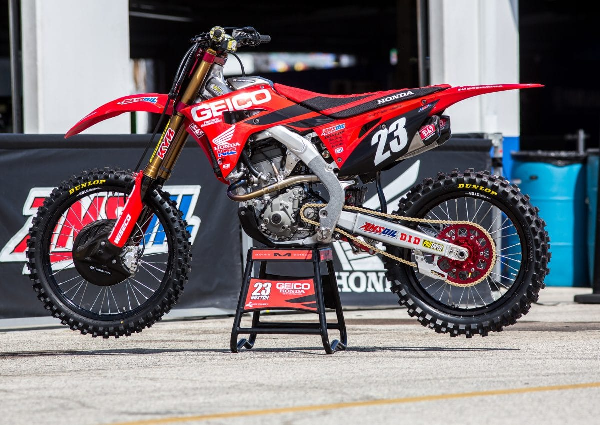 Inside Chase Sexton S Factory Geico Honda Crf250r Dirt