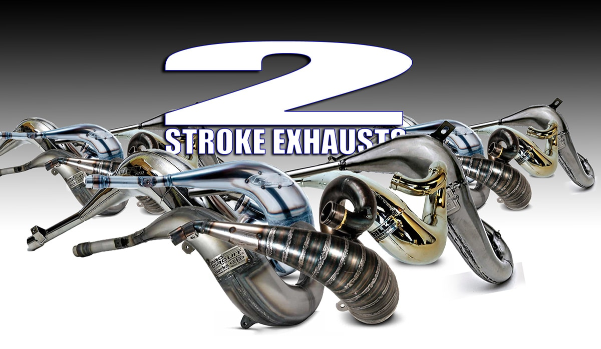 two stroke exhaust systems dirt bike magazine. Black Bedroom Furniture Sets. Home Design Ideas