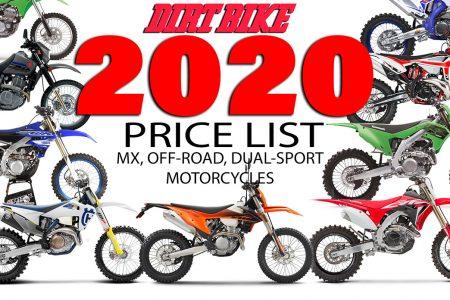 2020 NEW BIKE PRICES | Dirt Bike Magazine