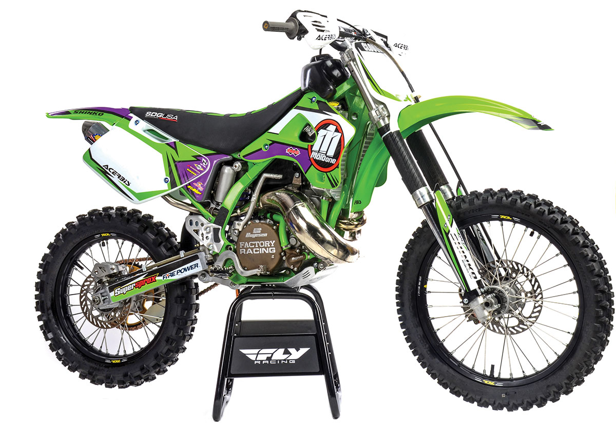 Boyesen and FMF dressed up the outside of our 24-year-old machine and gave it some extra spunk in the performance column.