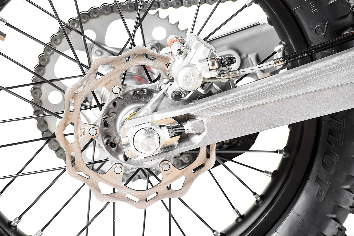 Brembo brakes are strong and equipped with feel.
