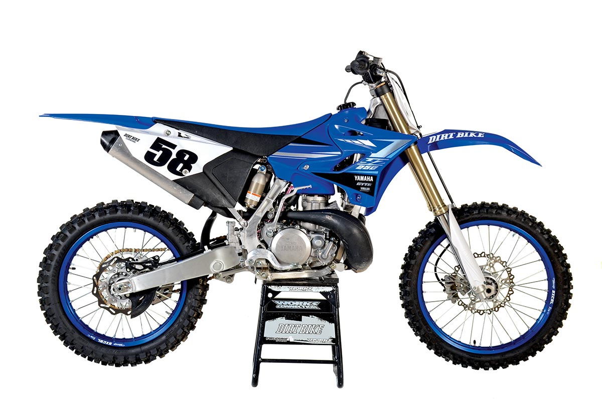 Yamaha YZ250. Weight: 218 pounds without fuel. Price: $7499.