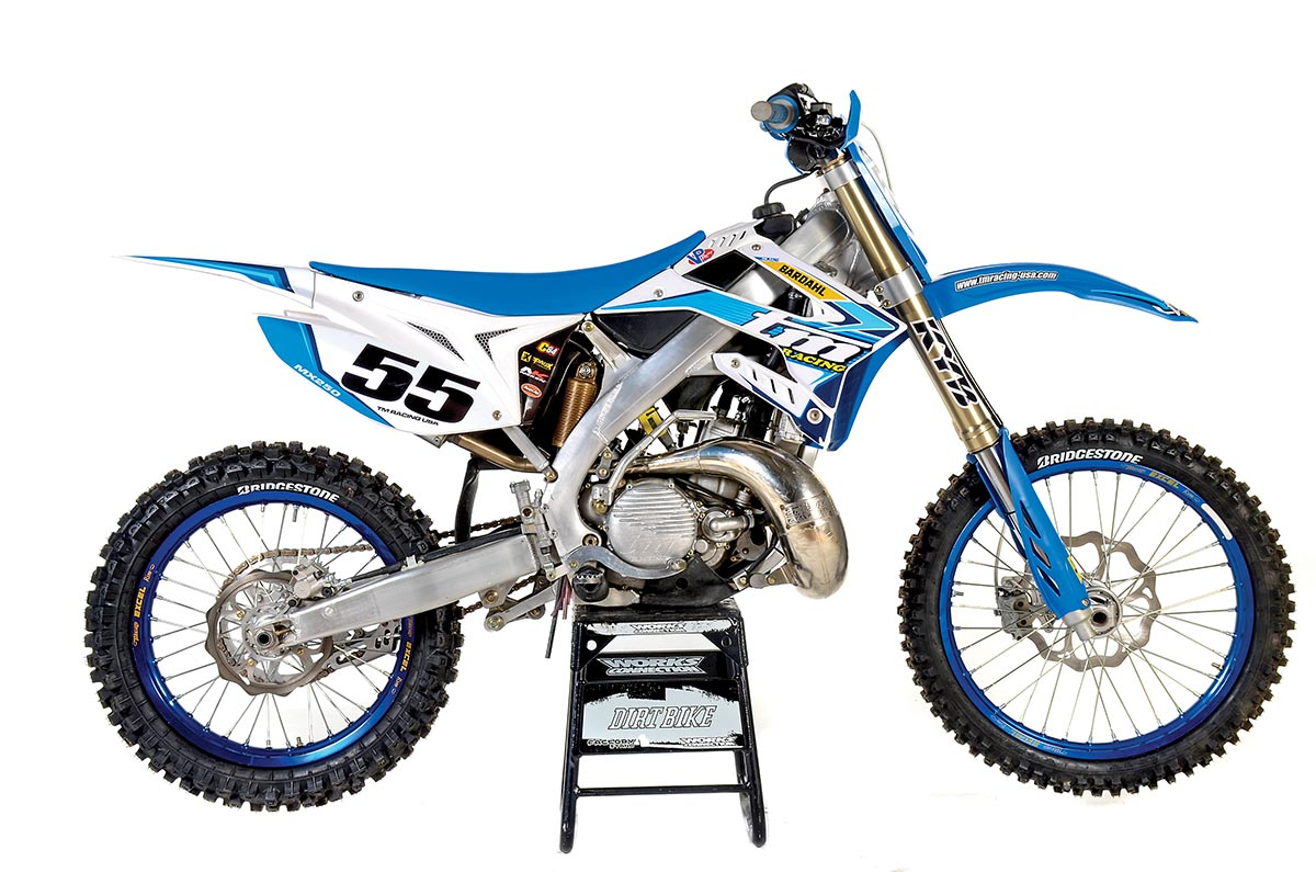 TM 250MXE. Weight: 225 pounds without fuel. Price: $9195.