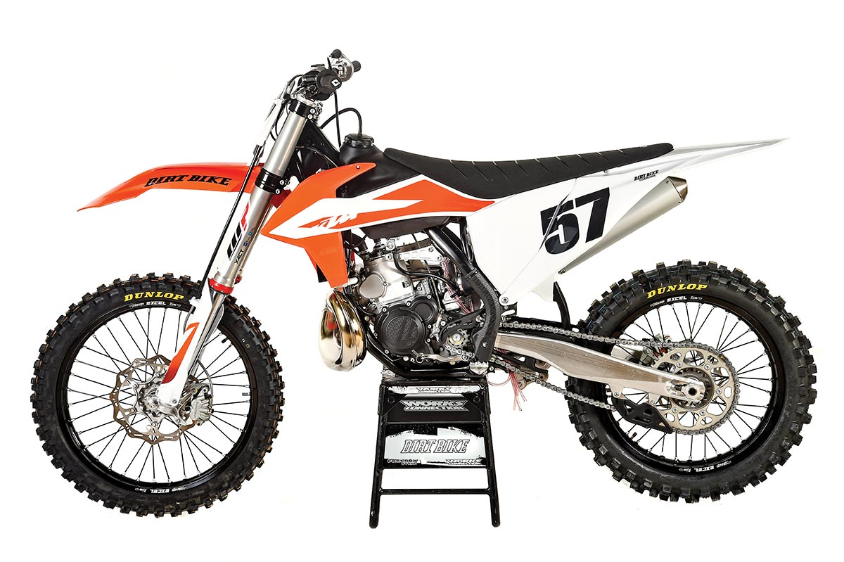 KTM 250SX. Weight: 214 pounds without fuel. Price: $8299.