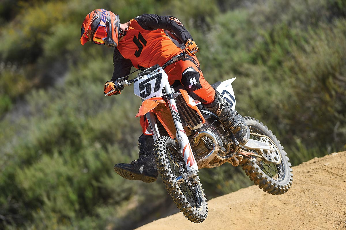 The 250SX is a powerhouse, stripped of the frills of KTM's off-road two-strokes.